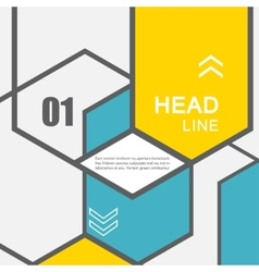 line hexagon infographic Template for vector image