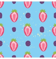 Sweet berry seamless pattern vector