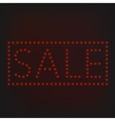 Red sale sign vector