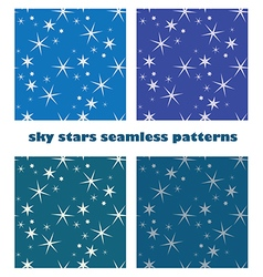 sky star seamless background vector image