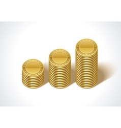 Graph from money coins vector image