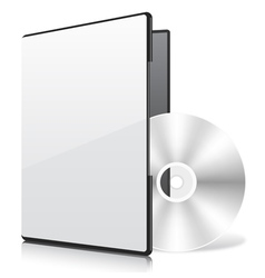 Blank Case and Disk vector image vector image
