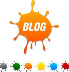Blog blot vector
