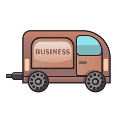 Business car icon flat style vector