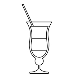 Cocktail drink traditional brazil outline vector