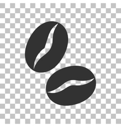 Coffee beans sign Dark gray icon on transparent vector image vector image