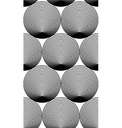 Continuous pattern with black graphic lines vector image vector image
