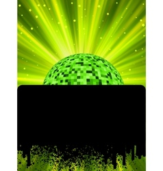 disco ball poster vector image