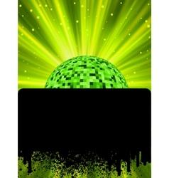 disco ball poster vector image vector image