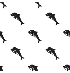 Dolphin icon in black style isolated on white vector