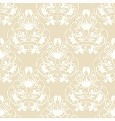 Elegant damask beige seamless background vector