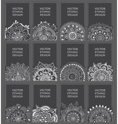 ethnic background set with abstract pattern vector image