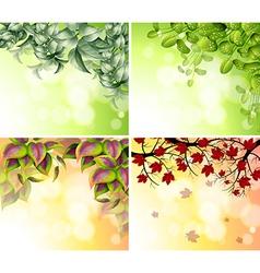 Four border designs vector