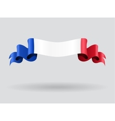 French wavy flag vector image vector image