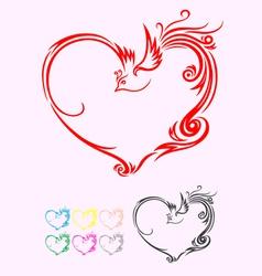 Heart ornament vector image