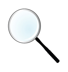 magnifier simple vector image