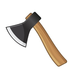 Old steel axe on white background vector