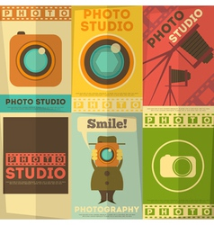 Photo studio posters vector