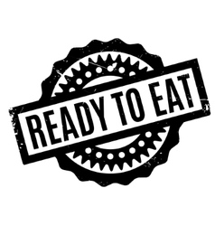 Ready to eat rubber stamp vector