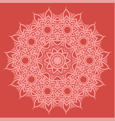 Red oriental geometric ornament vector