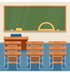 School classroom flat vector