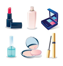 set of cosmetics vector image