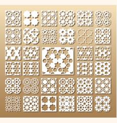 set of die cut cards vector image vector image