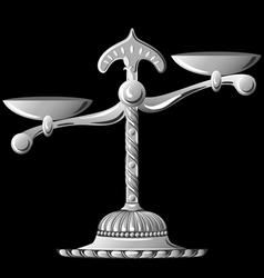 silver scale unbalanced vector image