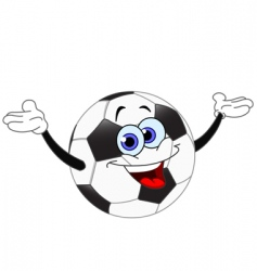 soccer cartoon vector image vector image