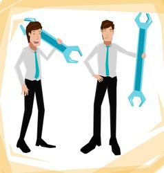 Technician business man vector