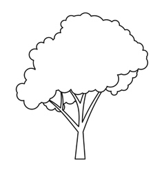 Tree icon outline style vector image