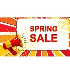 Megaphone with SPRING SALE announcement Flat vector image