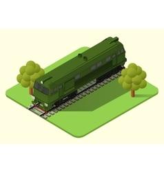 Train locomotive isometric vector