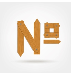 Number wooden sign vector image