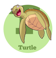 Abc cartoon turtle5 vector