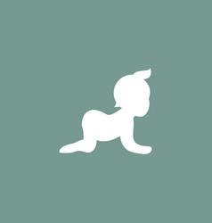 baby icon simple vector image