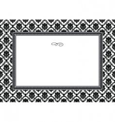 bouquet frame vector image