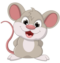 Cute mouse cartoon posing vector
