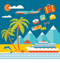 Travel - flat style vector