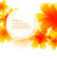 Beautiful background of flower vector
