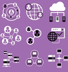 Social network icons network and communication vector