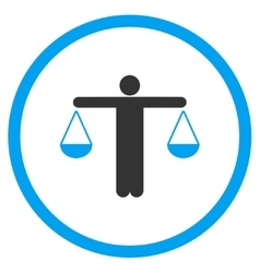 Lawyer flat icon vector