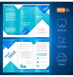 Brochure folder leaflet geometric triangle rhombus vector