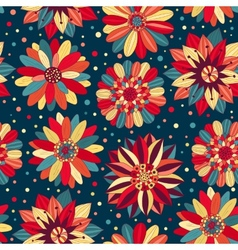 Beautiful bright flowers 2 vector image vector image