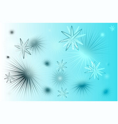 Blue white stars background vector