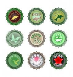 bottle cups set vector image vector image