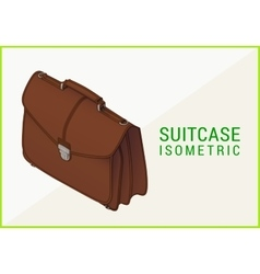 briefcase isometric flat 3d vector image