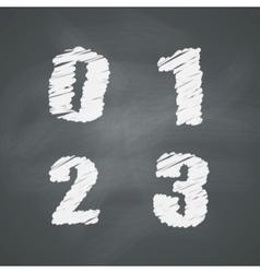 Chalkboard Numbers vector image vector image