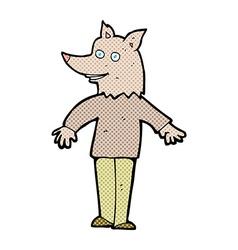 Comic cartoon happy werewolf vector