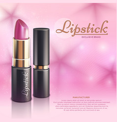 cosmetics design advertising template with vector image vector image
